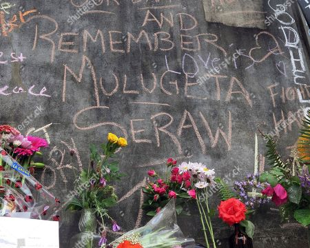A message at a rain-soaked memorial to two men who were fatally stabbed while trying to stop another man from shouting anti-Muslim insults at two young women on a Portland, Oregon, light-rail train, urges residents not to forget Mulugeta Seraw, a young Ethiopian man who was beaten to death by white supremacists with a baseball bat in Portland nearly 30 years ago. The suspect in last week's attack, 35-year-old Jeremy Joseph Christian, made a first court appearance on charges of aggravated murder and attempted murder Tuesday