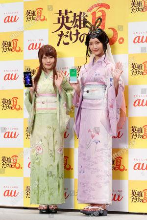 Kasumi Arimura and Nanao wearing traditional Japanese kimono