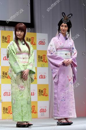 Kasumi Arimura and Nanao in yukata, summer kinono