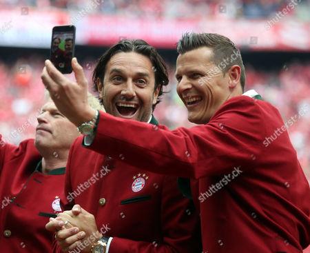 Stock Image of Luca Toni, Daniel Van Buyten (both FC Bayern Munich)