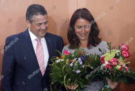 Sigmar Gabriel and Aydan Ozoguz