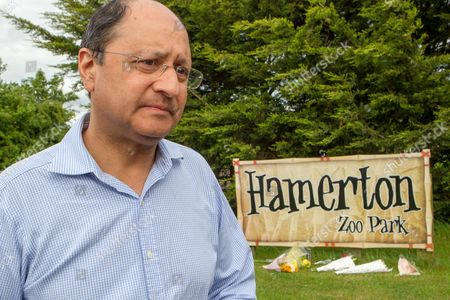 Shailesh Vara, Conservative MP for South Cambs, at Hamerton Zoo,the day after Rosa King was killed by a tiger.