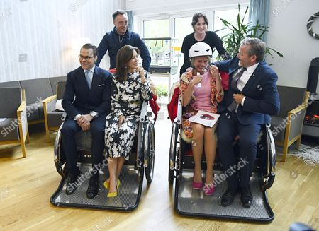 Crown Princess Mary, Prince Daniel, Asa Regner, Anders Samuelsen visit the Aleris Nursing home