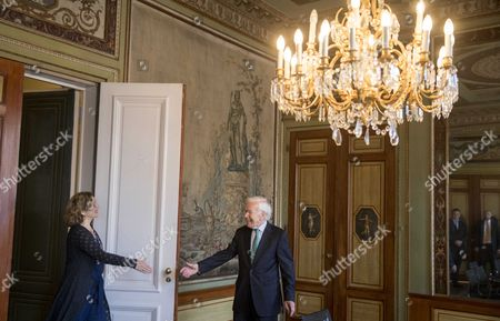 Editorial image of Informer Herman Tjeenk Willink and former informer health minister Edith Schippers meeting, The Hague, Netherlands - 31 May 2017