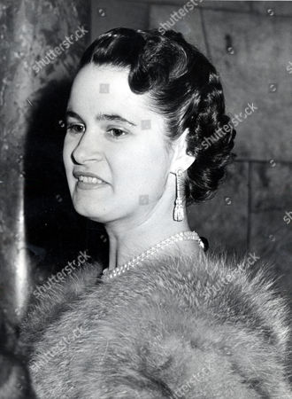 Countess Of Harewood Wife Of The 7th Earl Of Harewood. They Were Divorced In 1967. She Married Jeremy Thorpe In 1973 Pictured At The Palace Theatre. Nee Maria Donata Nanetta Paulina Gustava Erwina Wilhelmina (marion) Older Daughter Of Late Erwin Stein.
