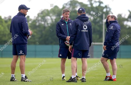 31/5/2017. Girvan Dempsey, Ronan O'Gara, Head Coach Joe Schmidt and kicking coach Richie Murphy