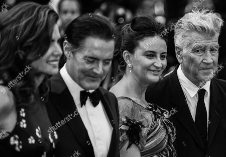 Desiree Gruber, Kyle Maclachlan, Emily Stofle and David Lynch - 'Twin Peaks' premiere