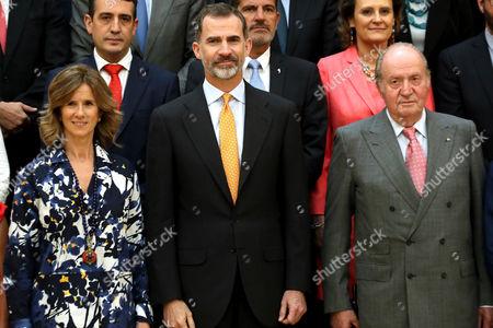 Cristina Garmendia, King Felipe VI and King Juan Carlos I