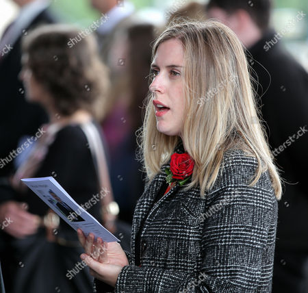 A Welsh Government employee sings one of the hymns during the service