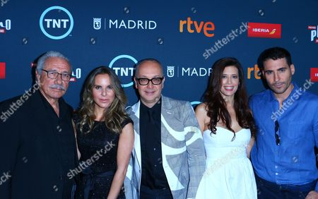 Edward James Olmos, Kate Del Castillo, Juan Carlos Arcienegas, Angie Cepeda and Miguel Silvestre