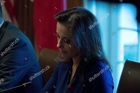 White House Senior Counselor for Economic Initiatives Dina Powell attends a bilateral meeting between President Donald Trump and Vietnamese Prime Minister Nguyen Xuan Phuc in the Cabinet Room at the White House, in Washington