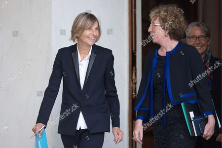 French Minister of European Affairs Marielle de Sarnez and French Minister of Labour Muriel Penicaud