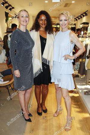 Bettina Wulff, Cassandra Steen and Franziska Knuppe