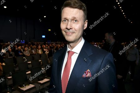 Nokia's Chairman Risto Siilasmaa at the general meeting of the Finnish telecommunication network company Nokia