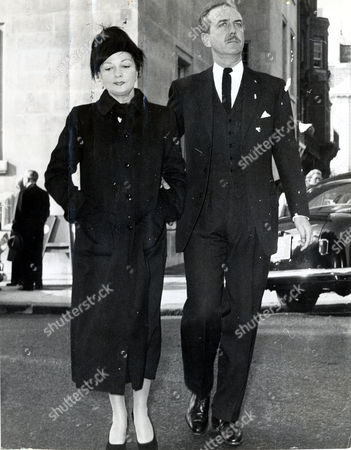 Actress Coral Browne (died 5/91) With Husband Philip Pearman (dead) (divorced 10/64)