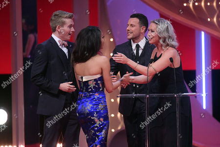 Richard Linnell and Kassius Nelson - Best On-Screen Partnership, presented by Faye Tozer and Lee Latchford-Evans