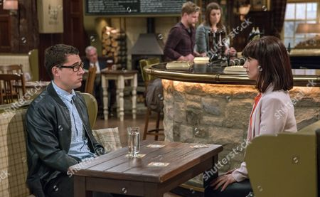Finn Barton, as played by Joe Gill, privately reveals to Leyla Harding, as played by Rokhsaneh Ghawam-Shahidi, he blew all the money in Australia but will she keep his secret? (Ep 7843 - Tue 6 Jun 2017)
