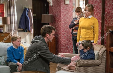 Lydia, as played by Karen Blick, mentions a drunken Marlon Dingle, as played by Mark Charnock, came to the house looking for Laurel Thomas, as played by Charlotte Bellamy, the night before. When April Windsor, as played by Amelia Flanagan, and Vanessa Woodfield, as played by Michelle Hardwick, overhear this and the mention of Marlon and Laurel's kiss, they're both furious. As Marlon desperately tries to explain there was no kiss and that's not why Carly went, will he manage to make Vanessa believe him and convince April he's not to blame for Carly's departure? (Ep 7841 - Mon 5 Jun 2017)