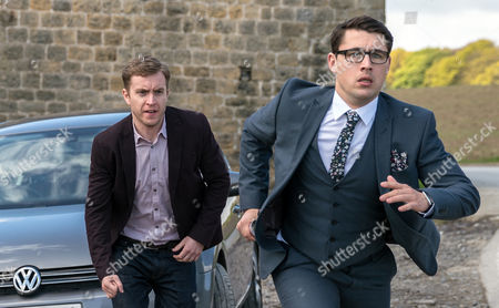 Finn Barton, as played by Joe Gill, goes on his first date as an escort but during it he has second thoughts. He grabs the cash off the client and makes a run for it, ending up at Wylie's farm. (Ep 7845 - Thur 8 Jun 2017)