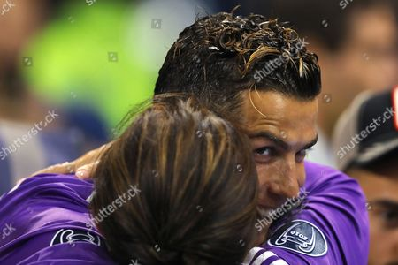 Cristiano Ronaldo of Real Madrid embraces with his mother, Dolores Aveiro after winning the UEFA Champions League - Juventus v Real Madrid, UEFA Champions League Final, National Stadium of Wales, Cardiff - 3rd June 2017.