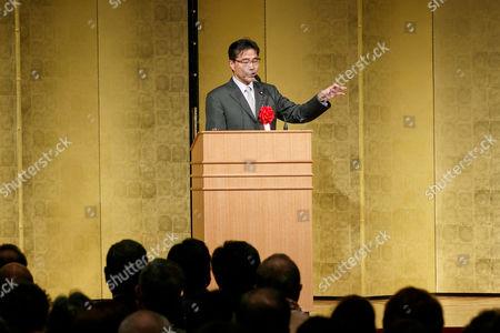 Masaru Wakasa, former Liberal Democratic party (LDP) lawmaker speaks