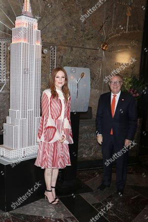 Editorial picture of Julianne Moore at the Empire State Building for National Gun Violence Awareness Day, New York, USA - 01 Jun 2017