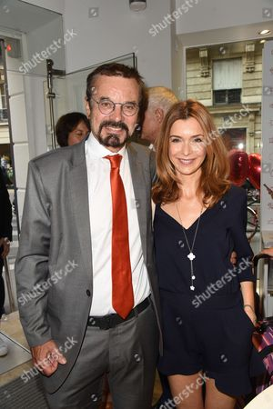 Stock Photo of Olivier Courtin-Clarins and Veronique Mounier