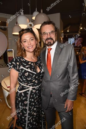 Stock Picture of Sandrine Quetier and Olivier Courtin-Clarins
