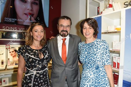 Stock Image of Sandrine Quetier, Olivier Courtin-Clarins and Valerie Bonneton