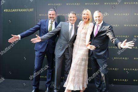 Deniz Imdat, Lelio Gavazza (Managing Director EMEA), Princess Lilly zu Sayn Wittgenstein-Berleburg (Bulgari Markenbotschafterin), Jean-Christophe Babin (CEO),
