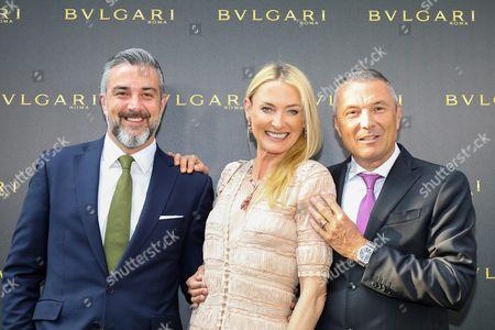 Deniz Imdat, Princess Lilly zu Sayn Wittgenstein-Berleburg (Bulgari Markenbotschafterin), Jean-Christophe Babin (CEO),