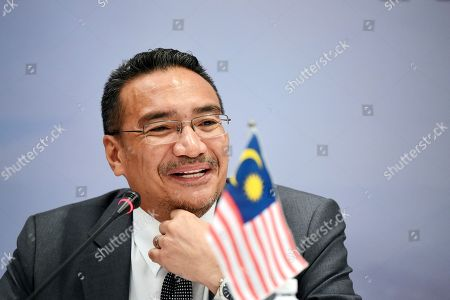 Hishammuddin Tun Hussein Malaysian Defense Minister Hishammuddin Hussein speaks during a joint press conference at the Five Power Defense Arrangements Defense Ministers Meeting in Singapore