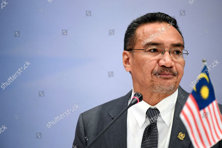 Hishammuddin Tun Hussein Malaysian Defense Minister Hishammuddin Hussein pauses during a joint press conference at the Five Power Defense Arrangements Defense Ministers Meeting in Singapore