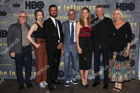 Tom Perrotta, Carrie Coon, Justin Theroux, Damon Lindelof, Amy Brenneman, Scott Glenn and Mimi Leder