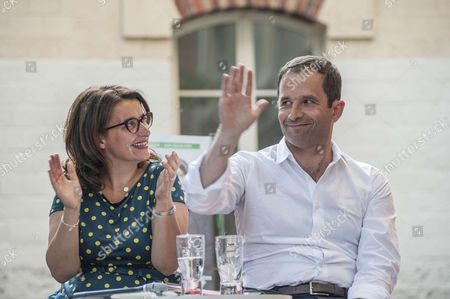 Cecile Duflot, Europe Ecology – The Greens candidate and Benoit Hamon