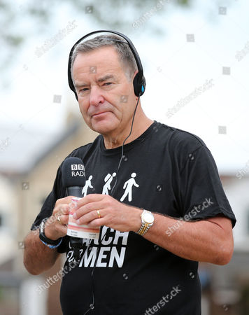 Jeff Stelling taking radio interviews - Jeff Stelling is walking 400 miles from Exeter City football Club to Newcastle United Football Club to help stop prostate cancer being a killer. Jeff Stelling's March for Men