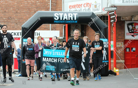 He's off - Jeff Stelling is walking 400 miles from Exeter City football Club to Newcastle United Football Club to help stop prostate cancer being a killer. Jeff Stelling's March for Men