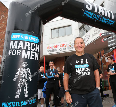 Jeff Stelling is walking 400 miles from Exeter City football Club to Newcastle United Football Club to help stop prostate cancer being a killer. Jeff Stelling's March for Men