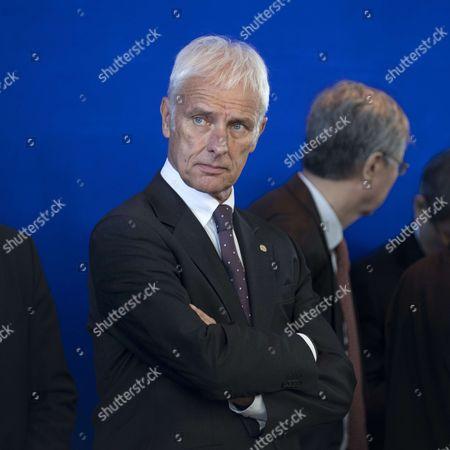 Matthias Muller, Chairman of German carmaker Volkswagen AG