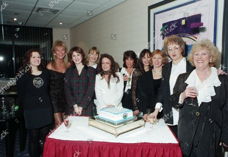 Tonicha Jeronimo, Claire King, Samantha Hurst, Rachel Ambler, Jacqueline Pirie, Deena Payne, Leah Bracknell, Roberta Kerr, Diana Davies, Paula Tilbrook meets the fans at the Emmerdale Fan Club 5th Anniversary party
