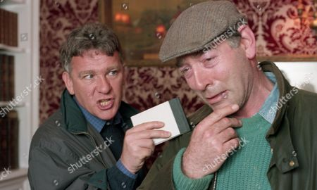 The police question Jack about why he attacked Andrew. They are beginning to suspect Jack may have something to do with Robert's disappearance. Jack starts to cry - With Jack Sugden, as played by Clive Hornby, and DI Farrar, as played by David Beckett. (Ep 1956 - 16th March 1995).
