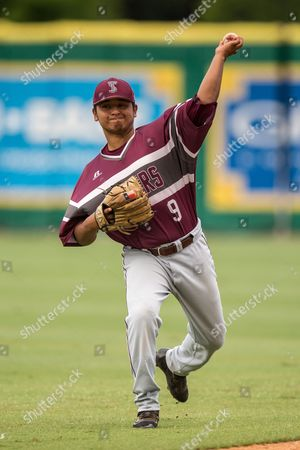 Texas Southern pitcher Daniel Vasquez (9) warming up before the Baton Rouge Division I Regional game between Texas Southern and LSU at Alex Box Stadium in Baton Rouge, LA