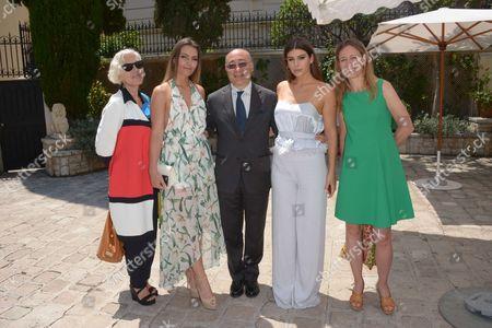 Chiara Boni, Nima Benati, Valentina Benati and Cristiano Gallo