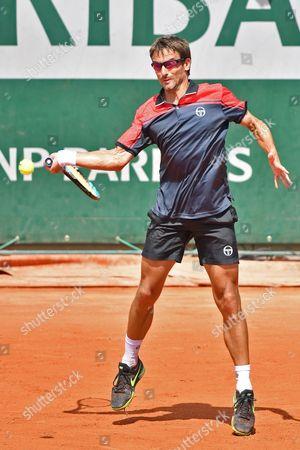 Tommy Robredo (ESP) during the mens singles second round of the Roland Garros Tennis Open 2017 at Roland Garros Stadium, Paris