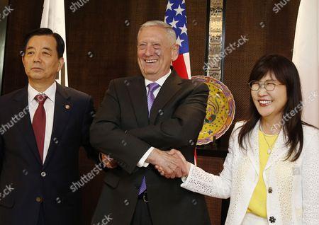 Tomomi Inada, James Mattis and Han Min-goo