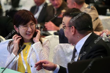 Tomomi Inada, Hishammuddin Hussein Japan's Defense Minister Tomomi Inada, left, talks with her Malaysian counterpart Hishammuddin Hussein ahead of the first plenary session at the 2017 International Institute for Strategic Studies (IISS) Shangri-la Dialogue, an annual defense and security forum in Asia, in Singapore
