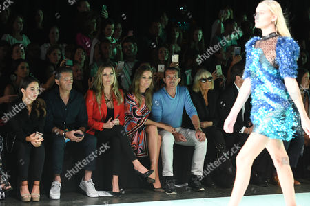 Stock Picture of Barbara Kimpel, Nicole Kimpel, Antonio Banderas, Barbara Hulanicki, Julio Iranzo in the Front Row