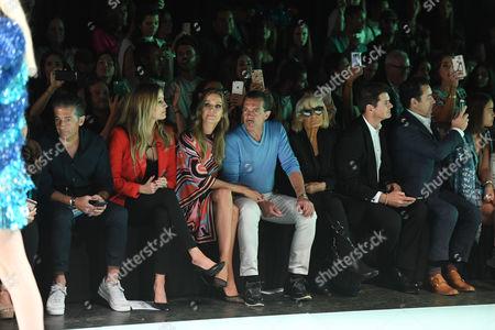 Barbara Kimpel, Nicole Kimpel, Antonio Banderas, Barbara Hulanicki, Julio Iranzo in the Front Row
