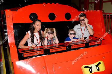 Michelle Heaton, with her children Faith and Aaron and husband Hugh Hanley