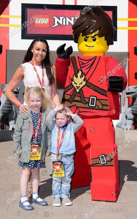 Michelle Heaton with her children Faith and Aaron Hanley